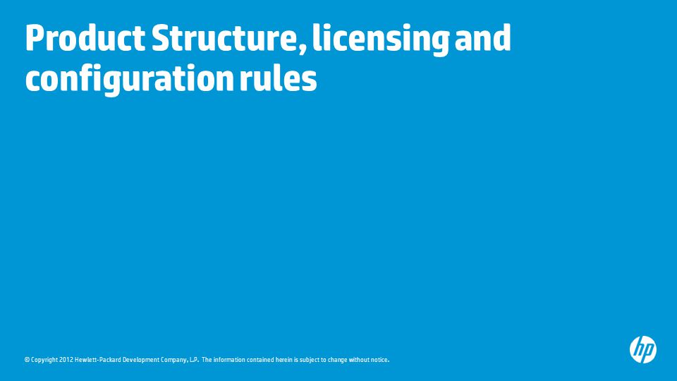 Product Structure, licensing and configuration rules