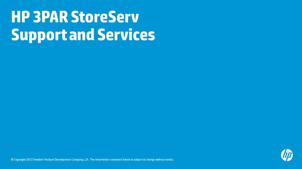 HP 3PAR StoreServ Support and Services