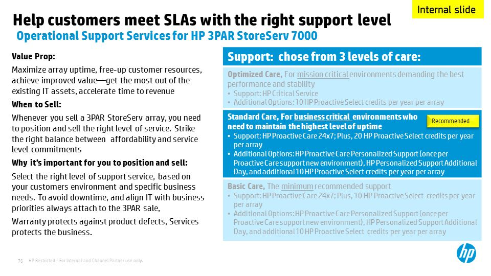 Help customers meet SLAs with the right support level