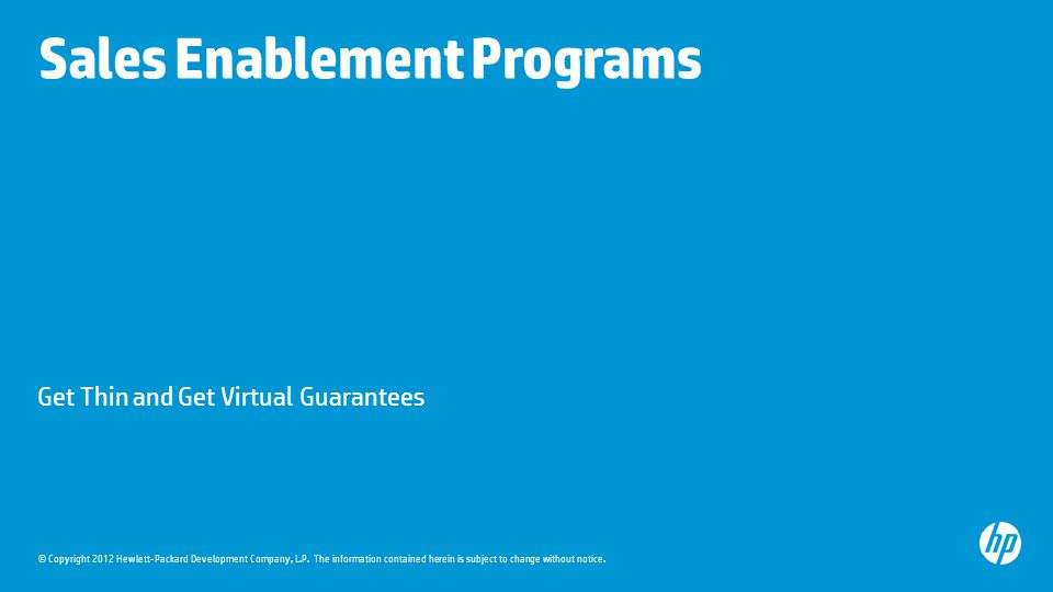 Sales Enablement Programs