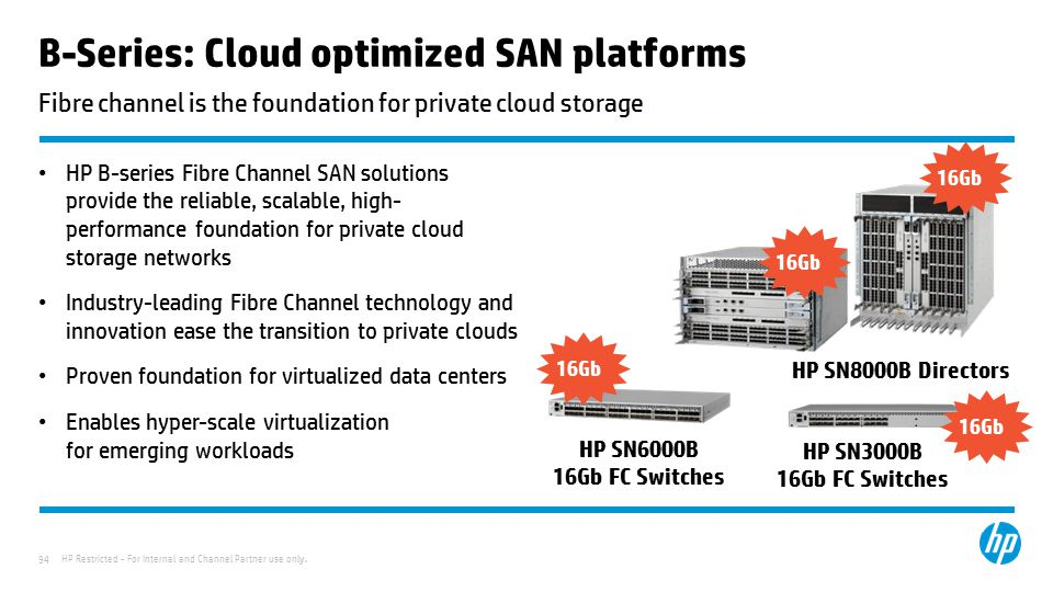 B-Series: Cloud optimized SAN platforms