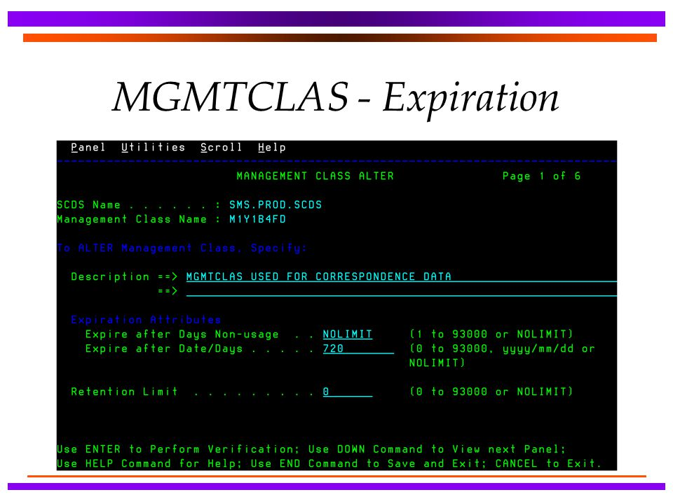 MGMTCLAS - Expiration