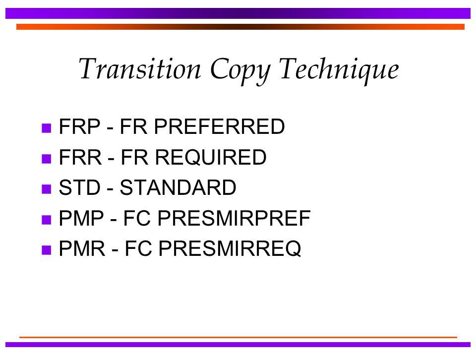 Transition Copy Technique