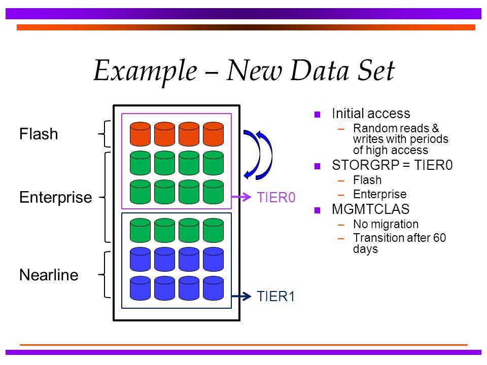 Example – New Data Set Flash Enterprise Nearline Initial access