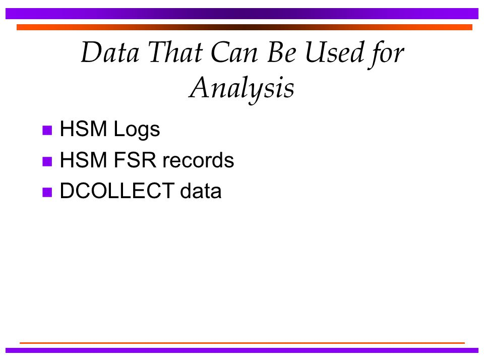 Data That Can Be Used for Analysis