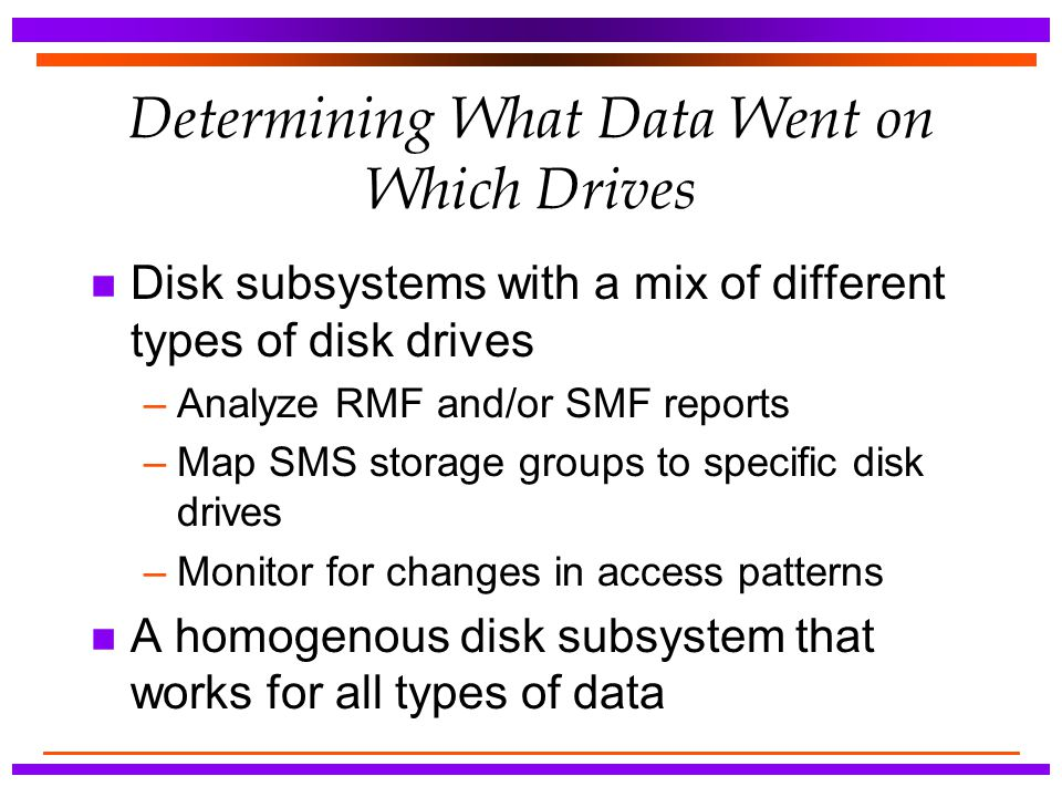 Determining What Data Went on Which Drives