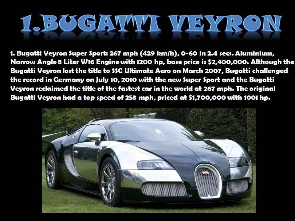 1.Bugatti Veyron