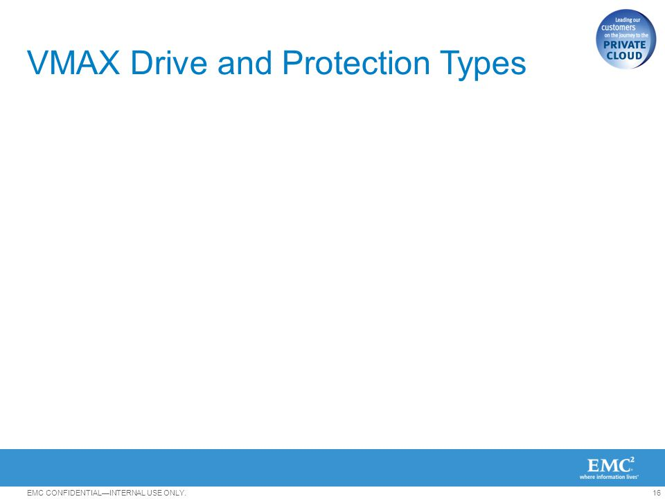 VMAX Drive and Protection Types