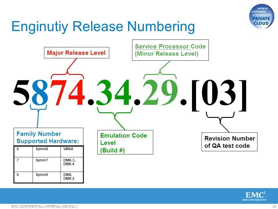 Enginutiy Release Numbering