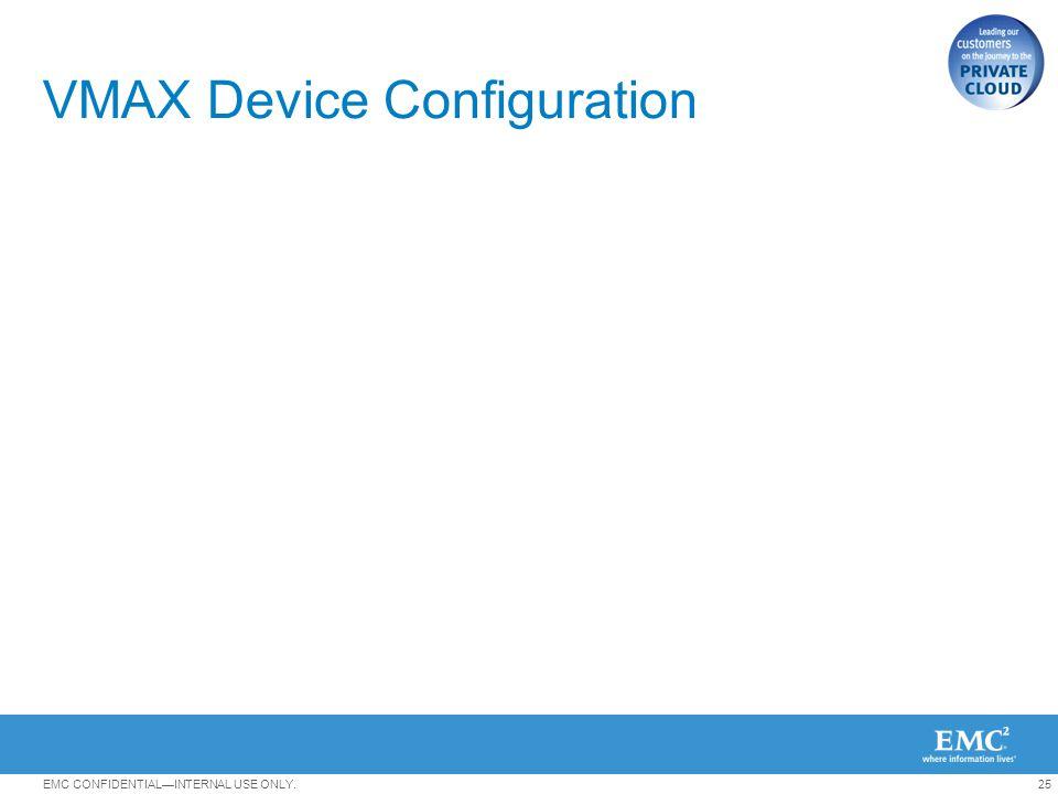 VMAX Device Configuration