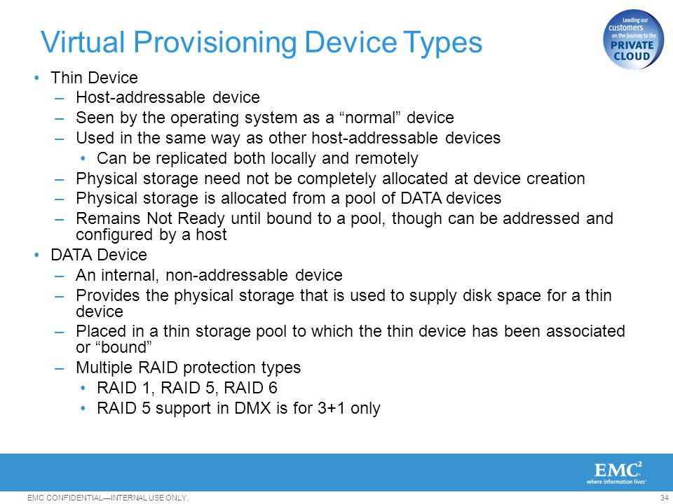 Virtual Provisioning Device Types
