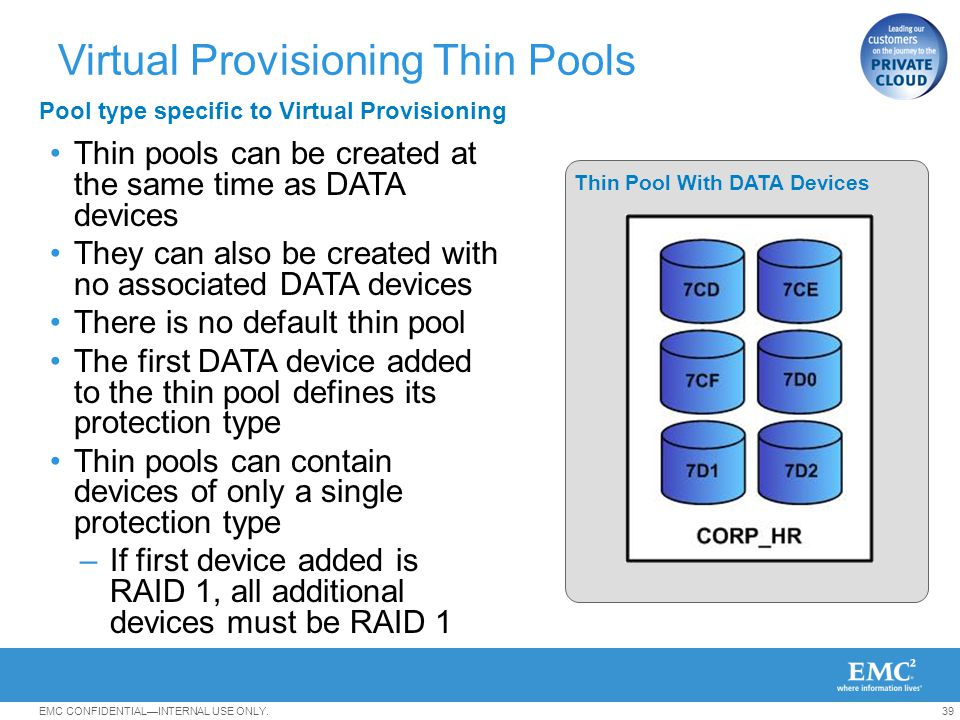Virtual Provisioning Thin Pools