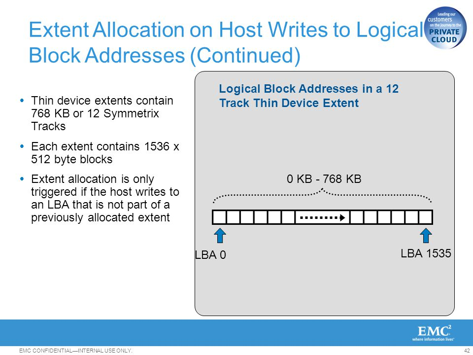 Extent Allocation on Host Writes to Logical Block Addresses (Continued)