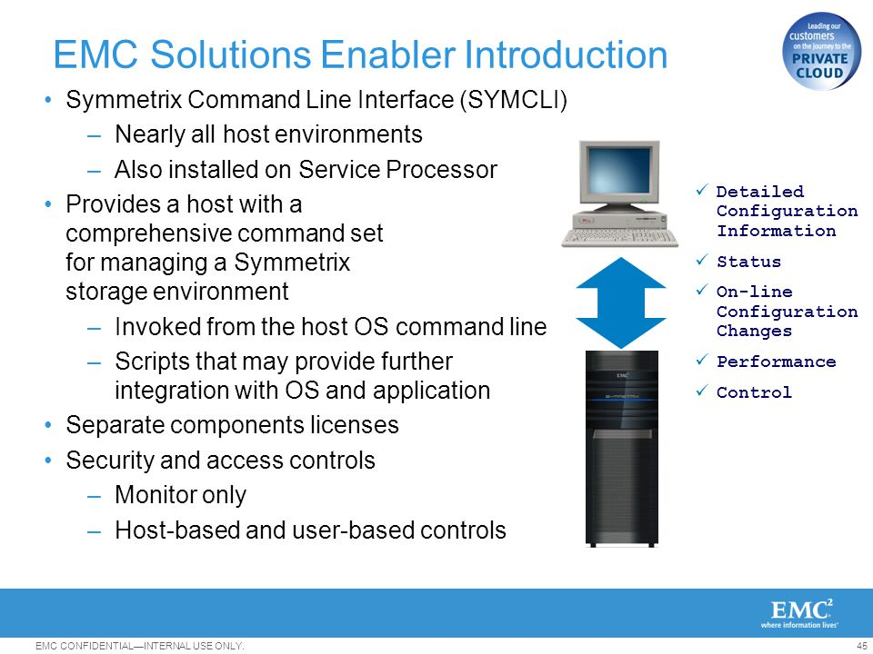 EMC Solutions Enabler Introduction