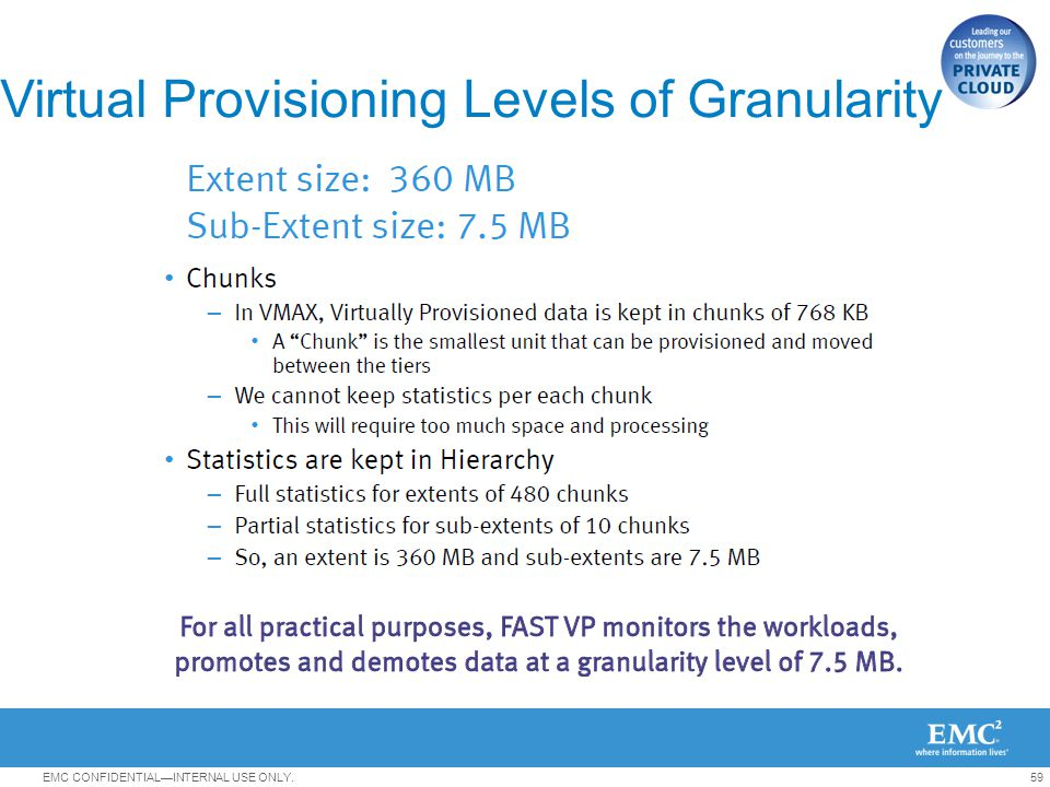 Virtual Provisioning Levels of Granularity