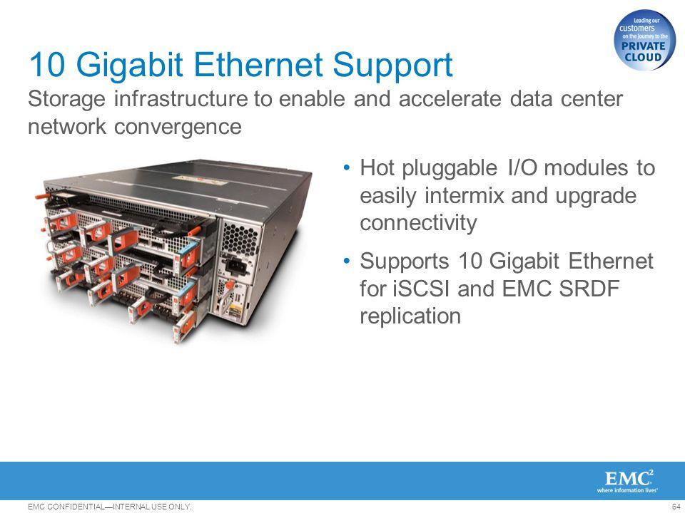 10 Gigabit Ethernet Support