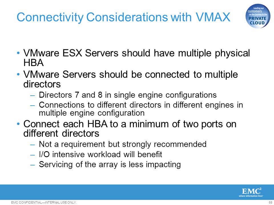 Connectivity Considerations with VMAX