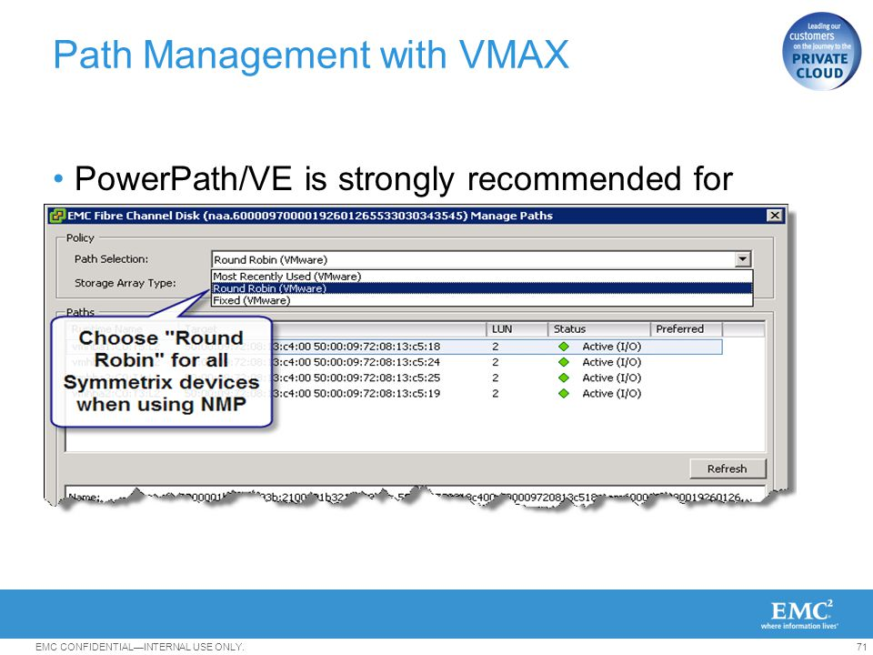 Path Management with VMAX
