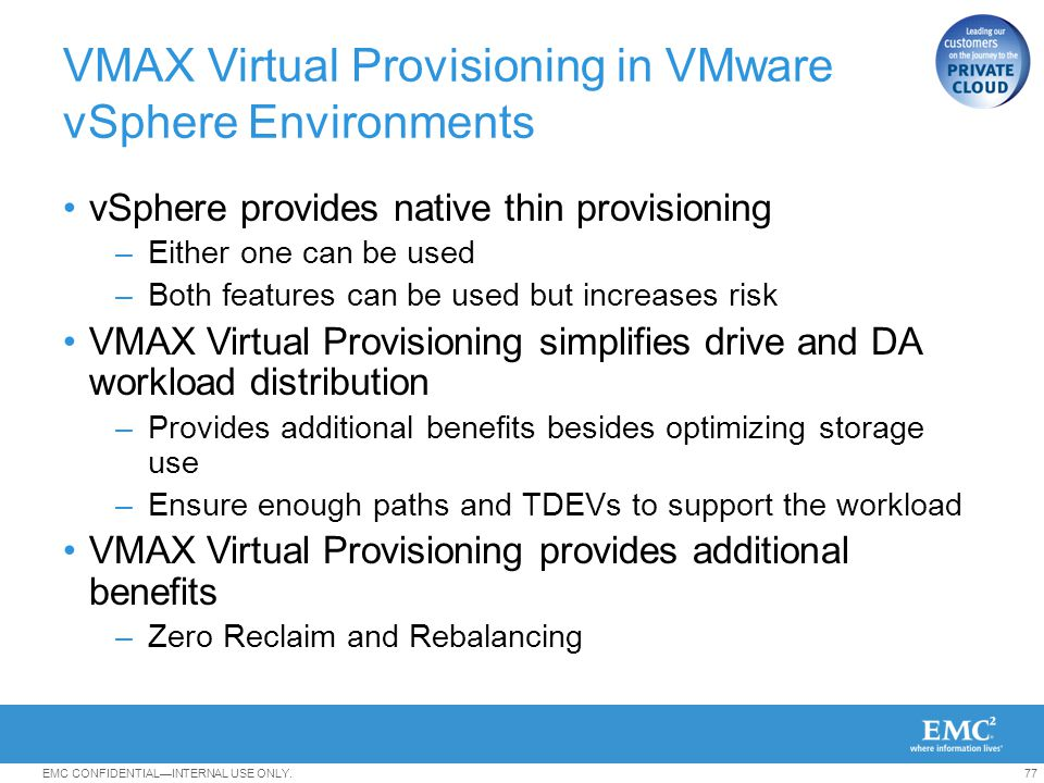 VMAX Virtual Provisioning in VMware vSphere Environments