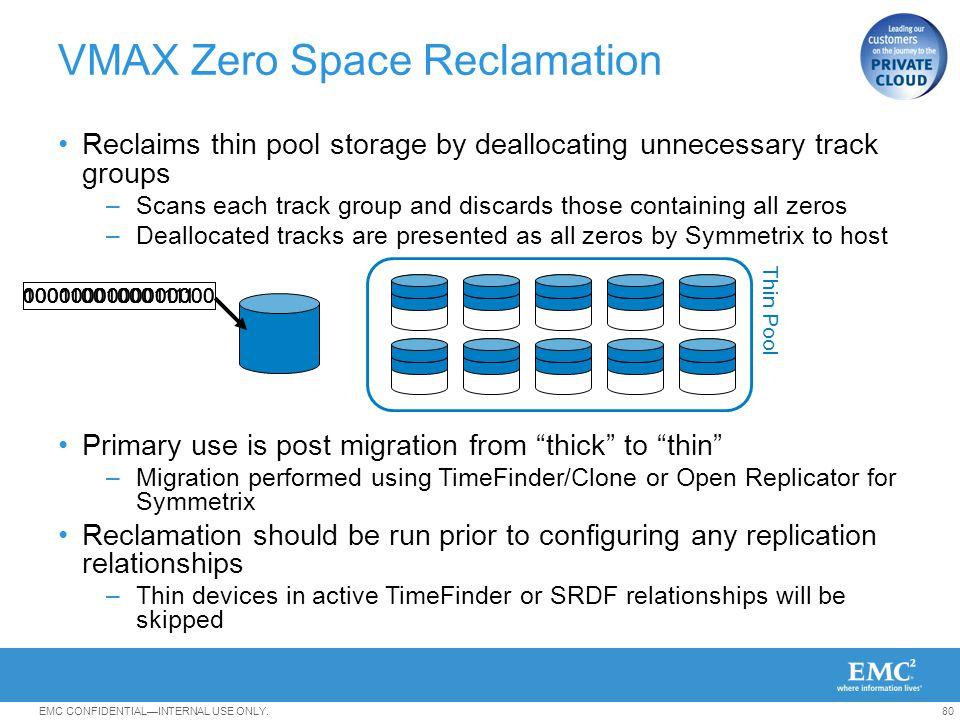 VMAX Zero Space Reclamation