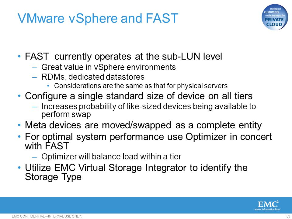 VMware vSphere and FAST