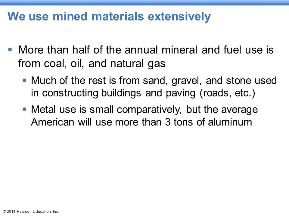 We use mined materials extensively