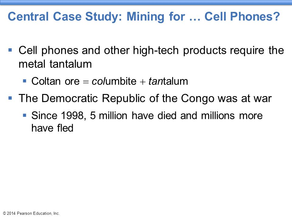 Central Case Study: Mining for … Cell Phones
