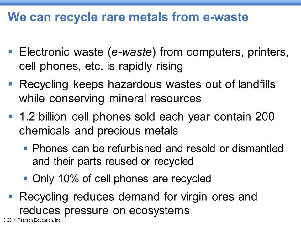 We can recycle rare metals from e-waste