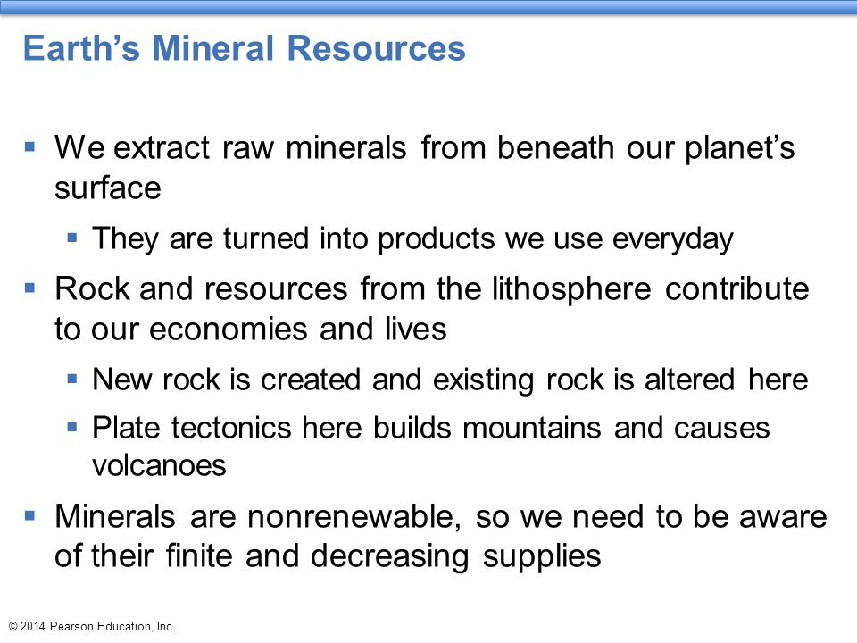 Earth's Mineral Resources