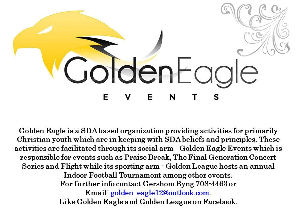 Like Golden Eagle and Golden League on Facebook.