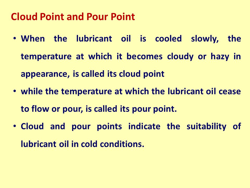 Cloud Point and Pour Point