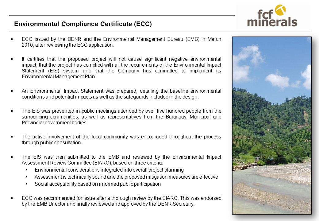 Environmental Compliance Certificate (ECC)