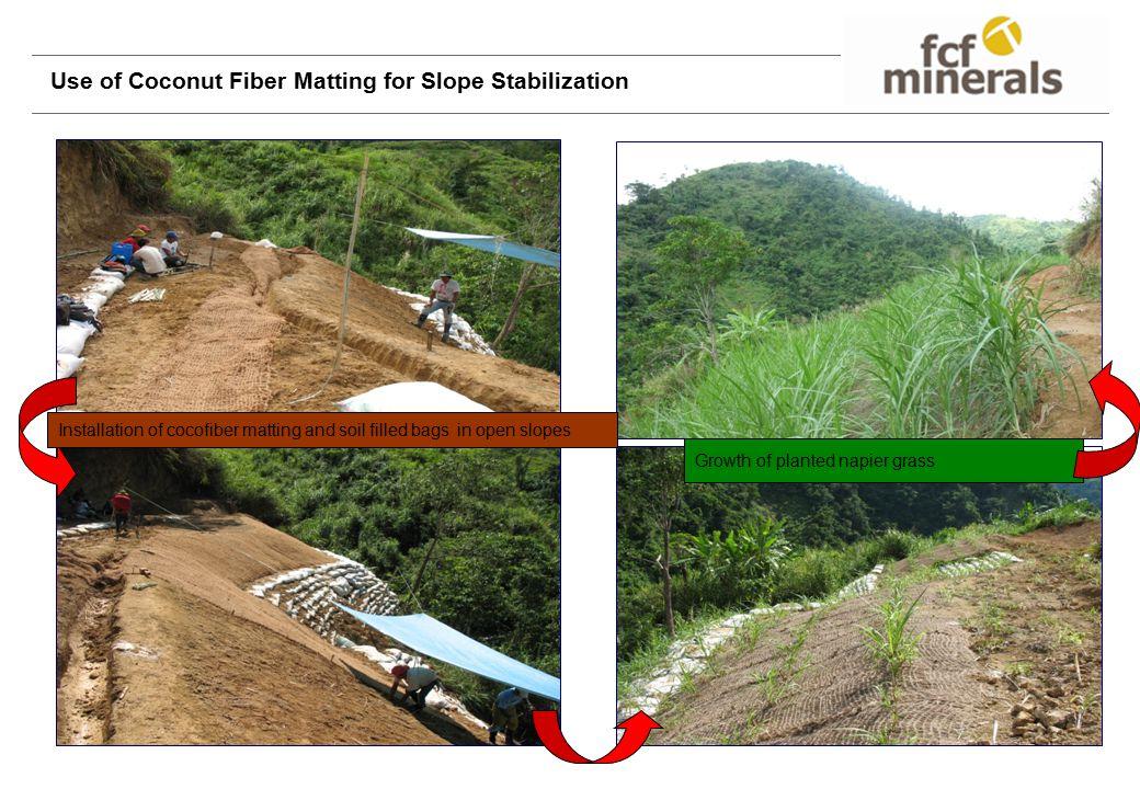 Use of Coconut Fiber Matting for Slope Stabilization