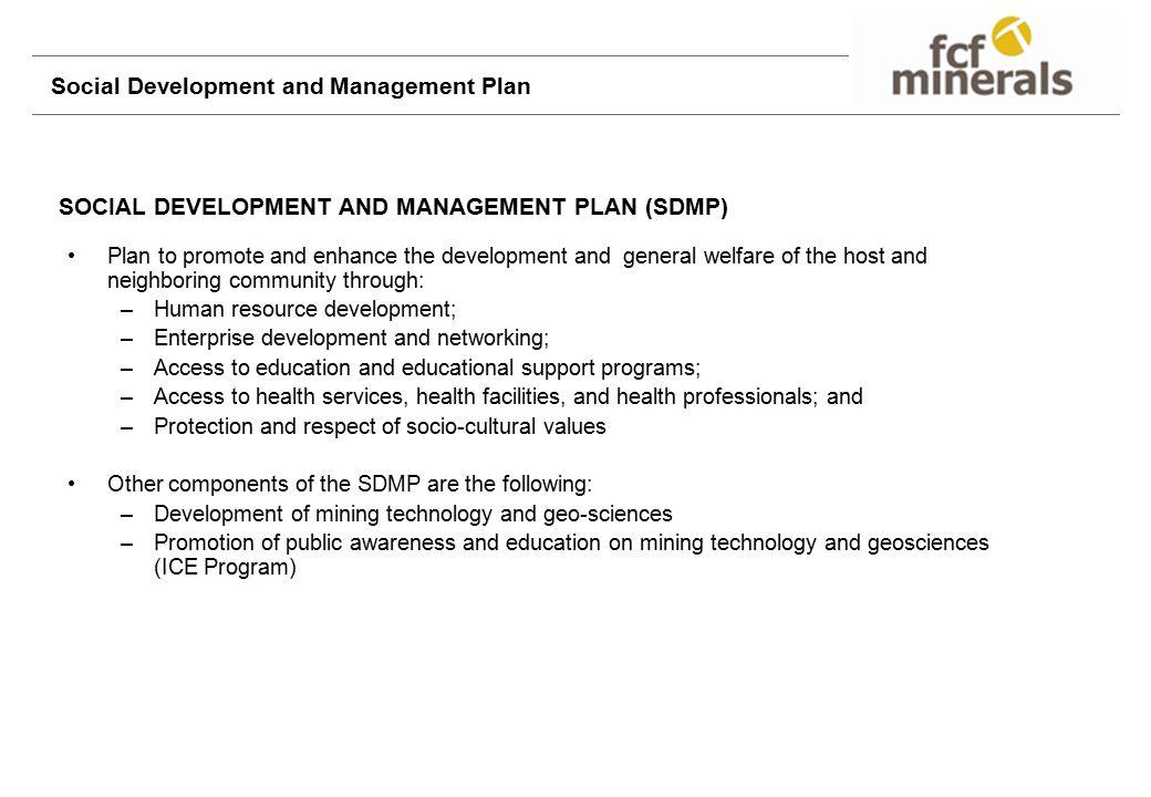 Social Development and Management Plan
