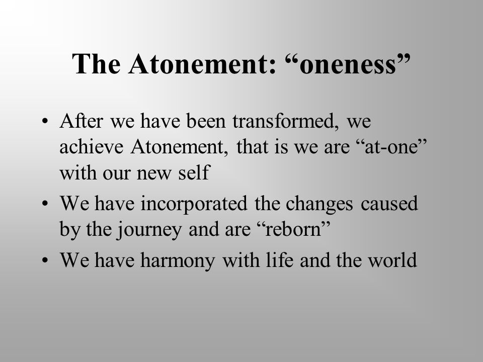 The Atonement: oneness