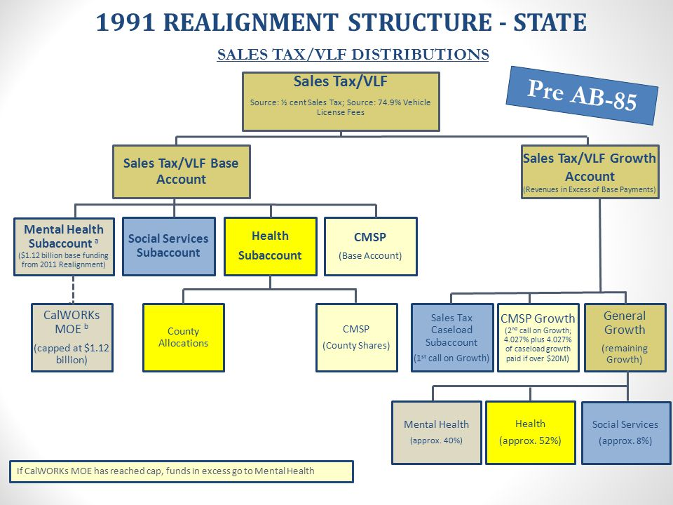 1991 REALIGNMENT STRUCTURE - STATE