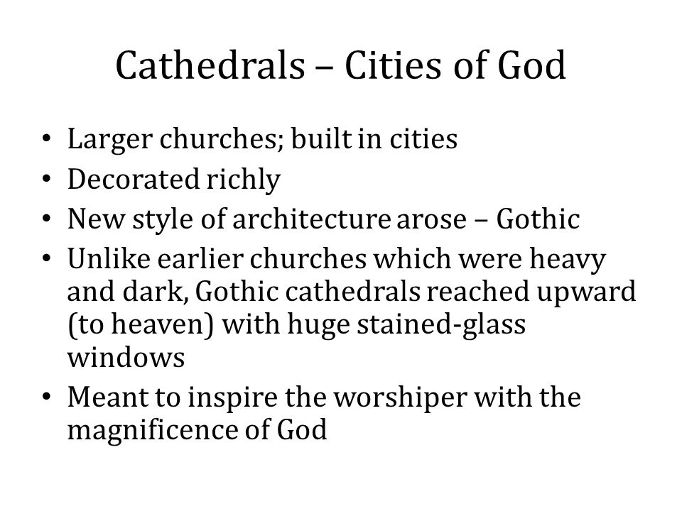 Cathedrals – Cities of God