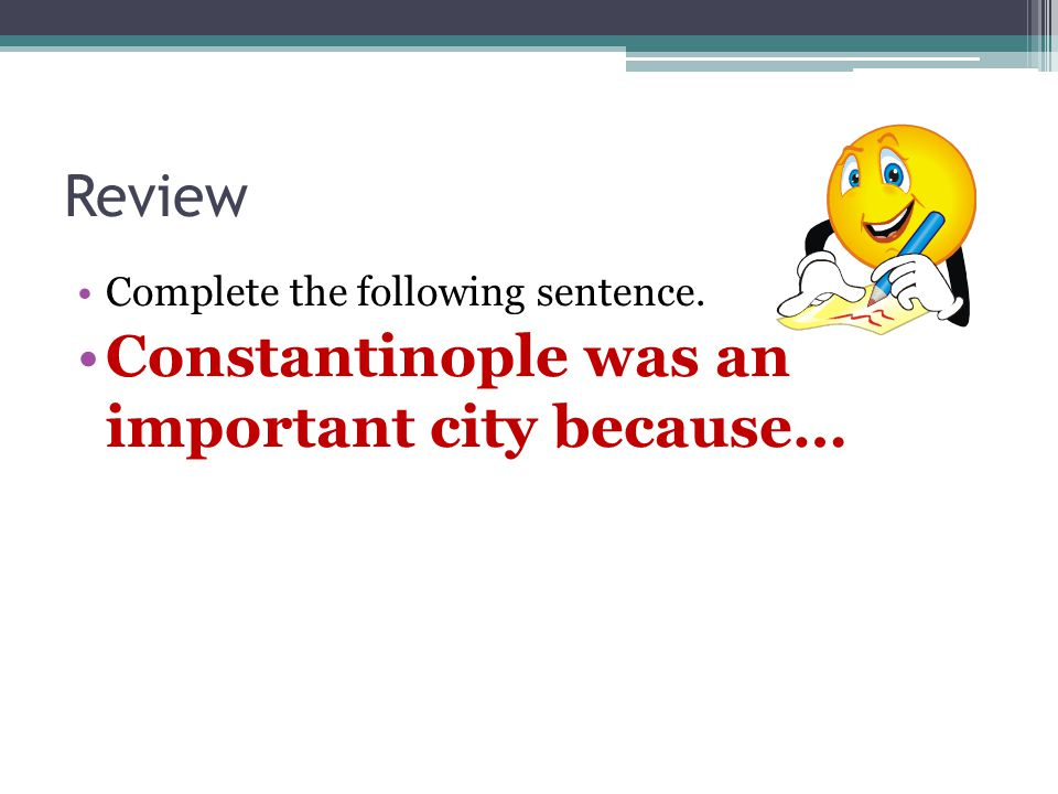 Constantinople was an important city because…