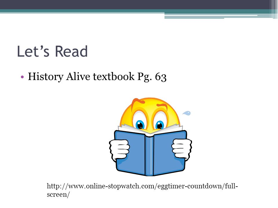 Let's Read History Alive textbook Pg. 63