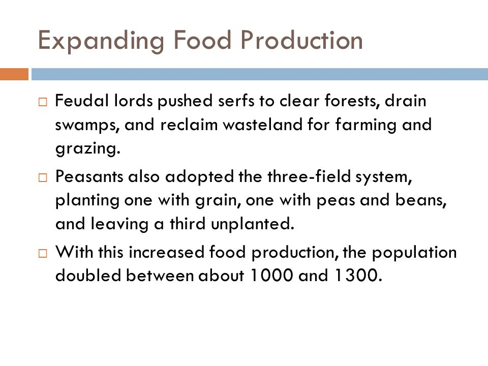 Expanding Food Production