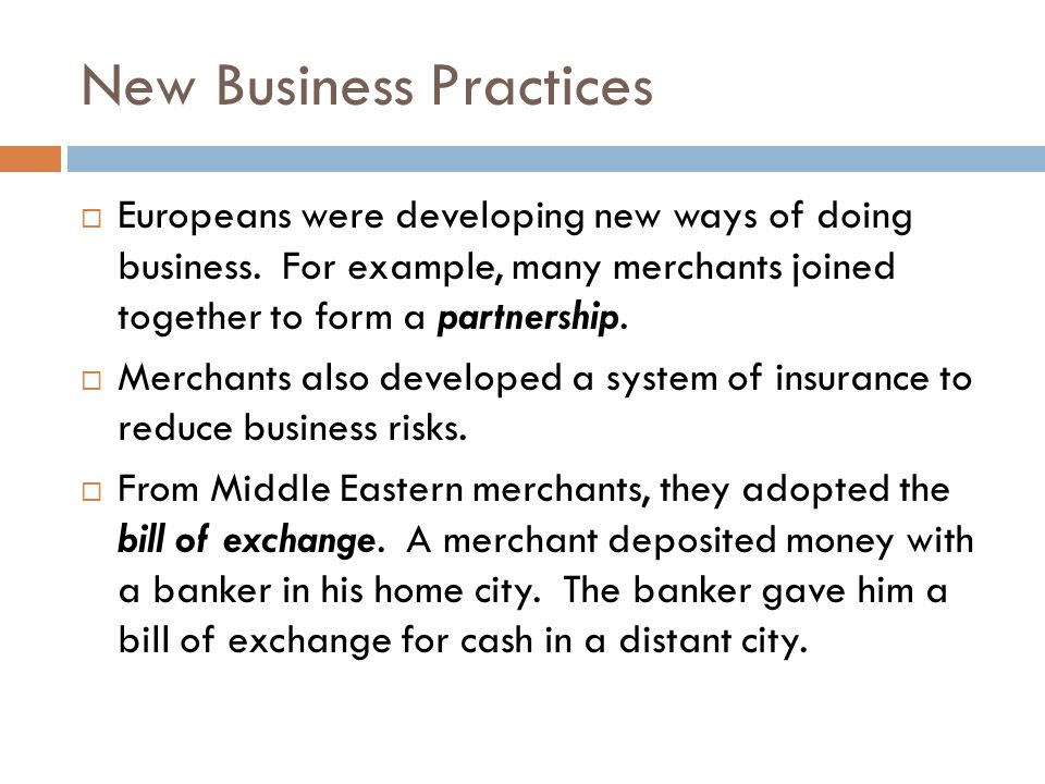 New Business Practices