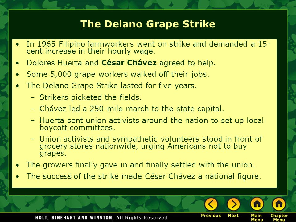 The Delano Grape Strike