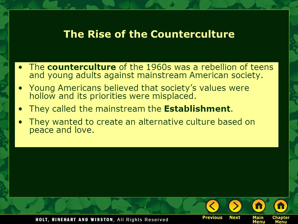 The Rise of the Counterculture