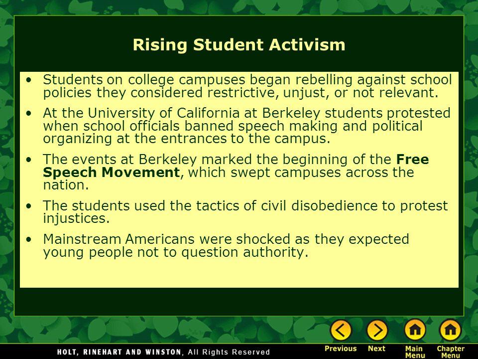 Rising Student Activism