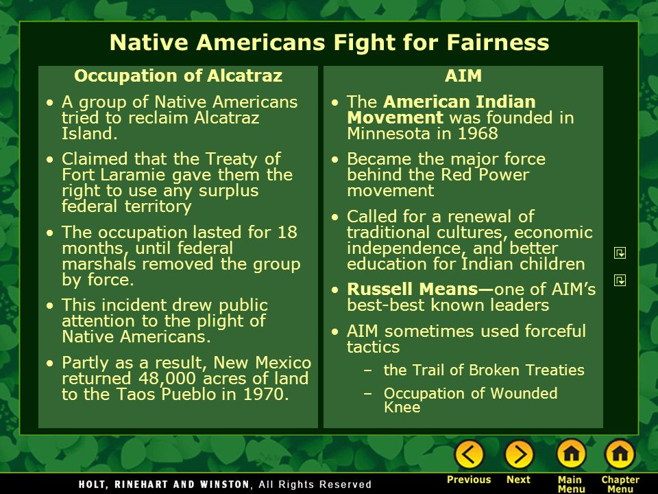 Native Americans Fight for Fairness