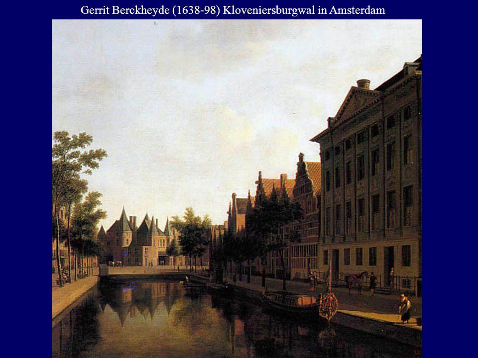 Gerrit Berckheyde (1638-98) Kloveniersburgwal in Amsterdam