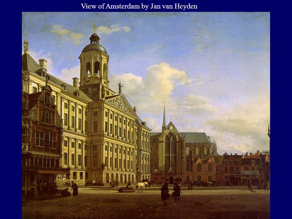 View of Amsterdam by Jan van Heyden