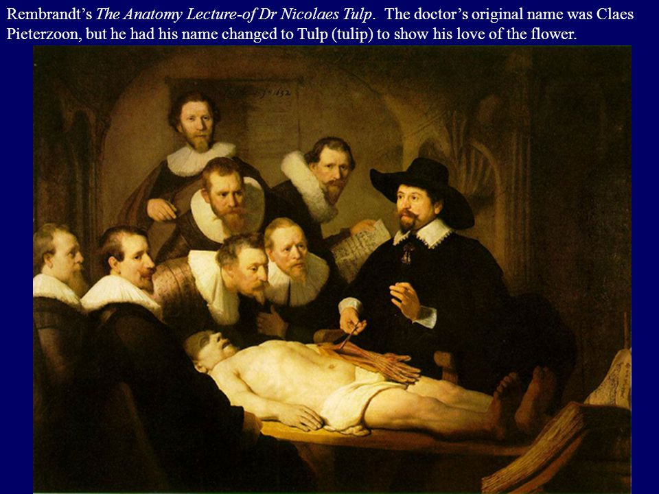 Rembrandt's The Anatomy Lecture-of Dr Nicolaes Tulp