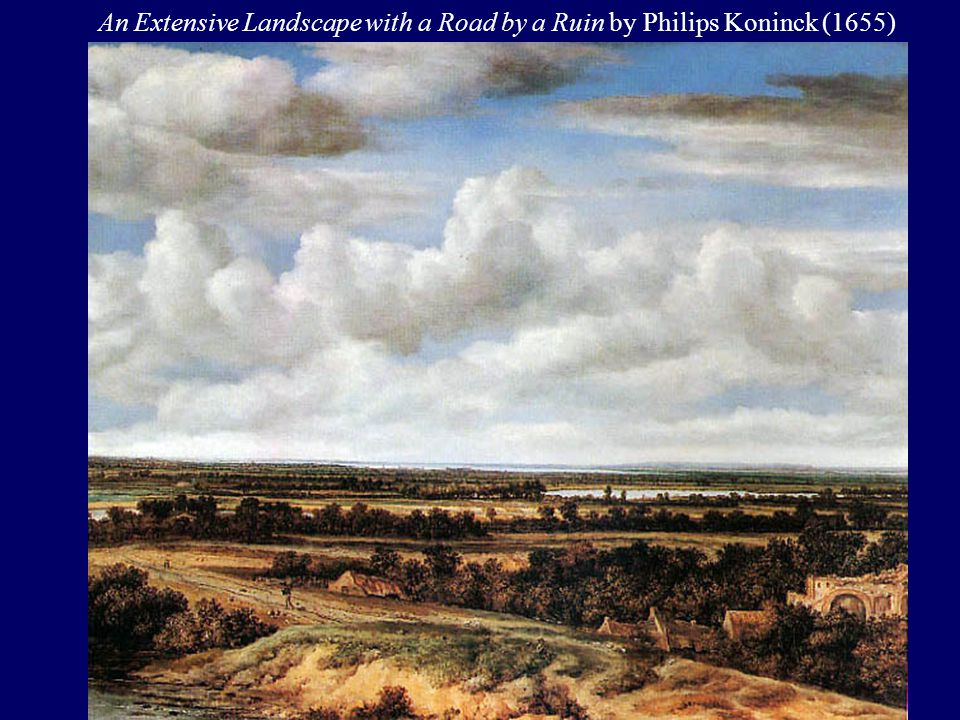 An Extensive Landscape with a Road by a Ruin by Philips Koninck (1655)
