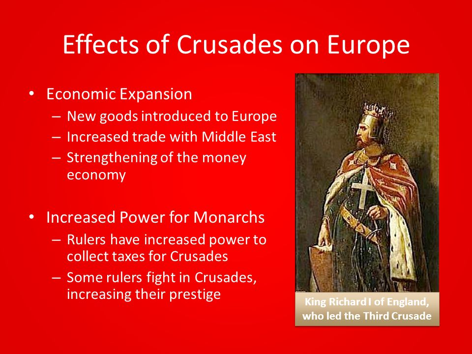 Effects of Crusades on Europe